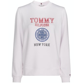 Tommy Hilfiger Delia Crew Women's Sweater - Classic White