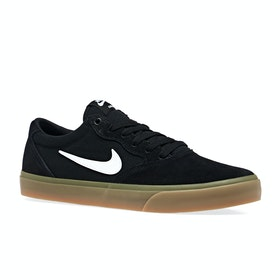 Chaussures Nike SB Chron Solarsoft - Black White Gum Light Brown