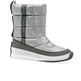 Sorel Out N About Puffy Mid Boots - Metal-pure Silver