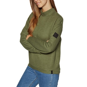 O'Neill Aralia Quilted Crew Sweater - Winter Moss
