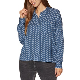 Rip Curl Sea View Womens Shirt - Insignia Blue