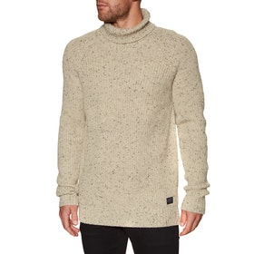 Sweat Animal Clavell Knitted Roll Neck - Putty Grey