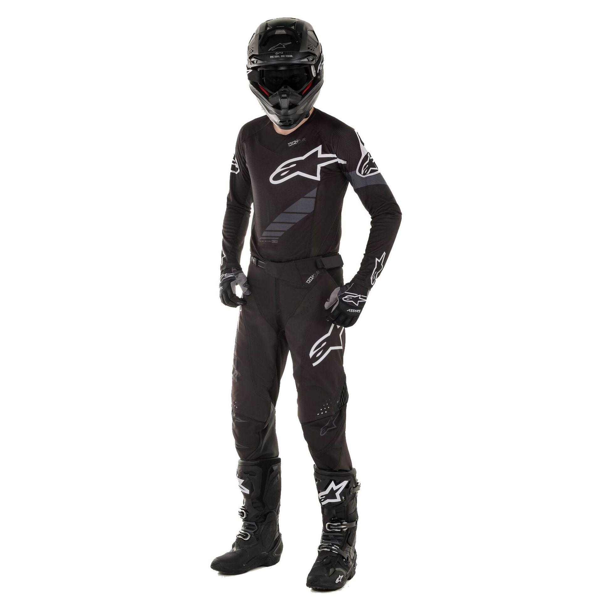 Alpinestars Techstar Graphite Motocross Jersey L