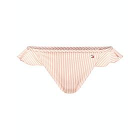 Tommy Hilfiger Basic Colour Blocked Bikini Bottoms - Seersucker Coral