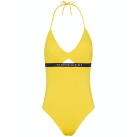 Costume Piscina Donna Tommy Hilfiger Cutout One Piece - Empire Yellow
