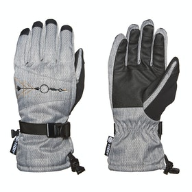 686 Paige Womens Snow Gloves - Grey Diamond Texture