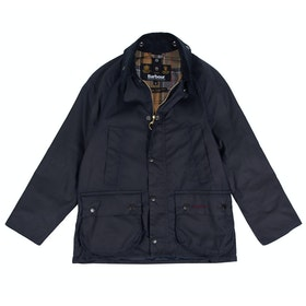 Barbour Classic Bedale Childrens Wax Jacket - Navy