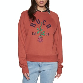 Sudadera Mujer RVCA Rosie Crew - Burnt Red