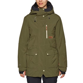Blouson pour Snowboard Planks All-time Insulated - Army Green