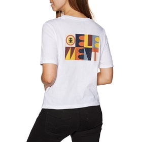 Element Barren Crew Womens Short Sleeve T-Shirt - White