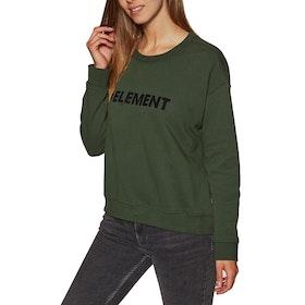 Element Logo Crew Fleece Womens Sweater - Olive Drab