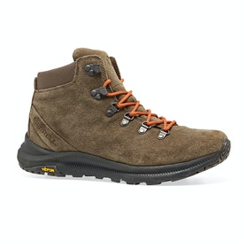Merrell Ontario Suede Mid Walking Boots - Canteen