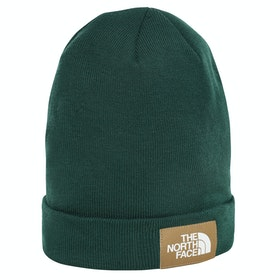 North Face Dock Worker Recycled Beanie - Night Green British Khaki