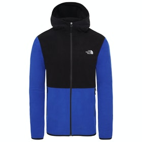 North Face Tka Glacier Full Zip Hoodie Fleece - TNF Blue TNF Black