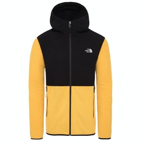 North Face Tka Glacier Full Zip Hoodie , Fleece - TNF Yellow TNF Black