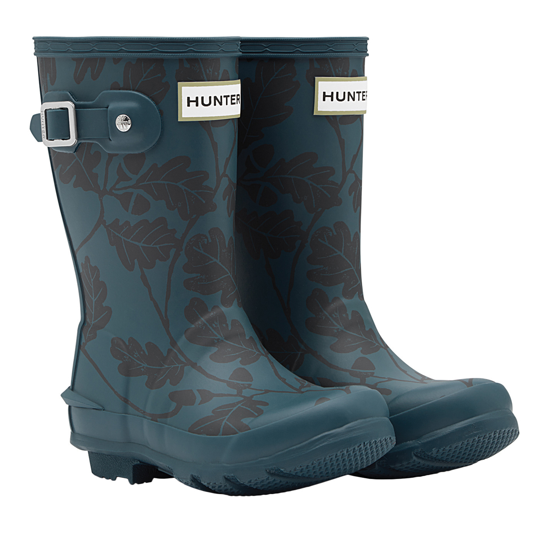 Hunter National Trust Print Kid's Wellington Boots Dusk Verkauf bei Country Attire