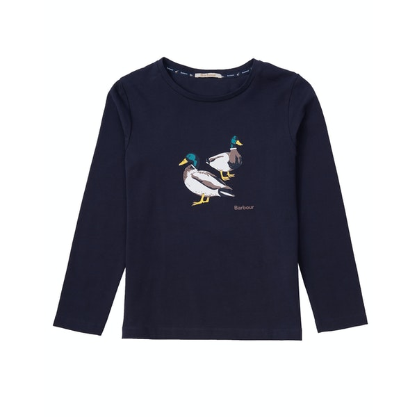 Barbour Brecon Girl's Long Sleeve T-Shirt