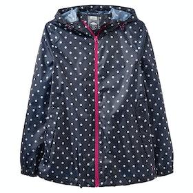 Joules Golightly Short Packaway Ladies Jacket - Navy Spot