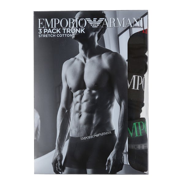 Emporio Armani Knit 3-Pack Boxer Shorts