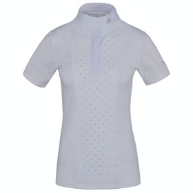 Kingsland Equestrian Triora Short Sleeve Show Ladies Competition Shirt - White
