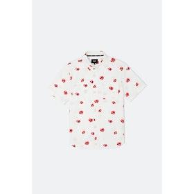 Huf Poppy Ss Woven S S Shirt - White