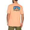 Patagonia Fitz Roy Horizons Responsibili-tee Short Sleeve T-Shirt - Peach Sherbet