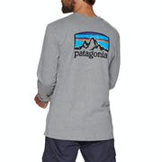 T-Shirt a Manica Lunga Patagonia Fitz Roy Horizons Responsibilitee
