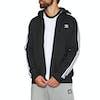 Adidas Originals 3 Stripes Full Zip Hoody - Black