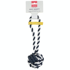 Joules Rubber and Rope Dog Toy - Blue