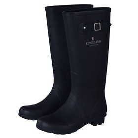 Kingsland Equestrian Fonta JR Rubber Childrens Wellington Boots - Navy