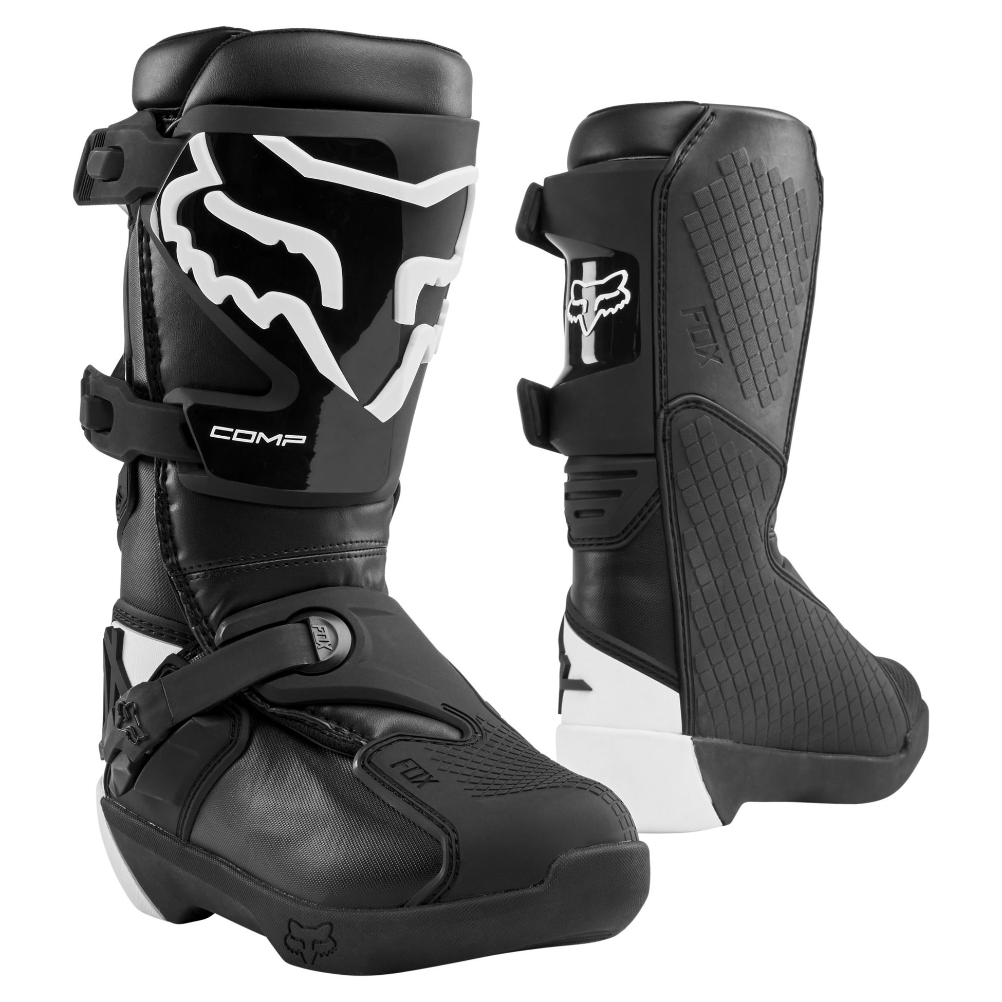 Youth 1-13 White//Black Alpinestars TECH 3S Youth Off-Road Motorcross Boots