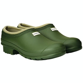Hunter Mens Gardener Clog Wellington Boots - Vintage Green
