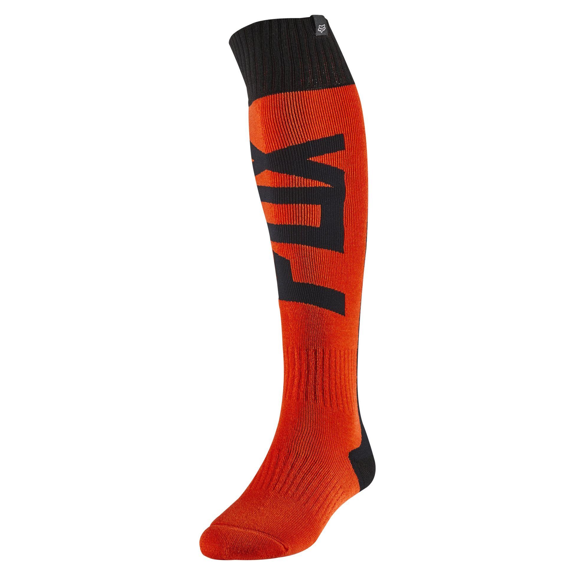 FLO Orange Small Fyce Fox Racing 2020 Youth Socks