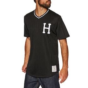 Huf Chavez Baseball Jersey Short Sleeve T-Shirt - Black