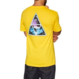 T-Shirt à Manche Courte Huf Space Beach Triple Triangle - Yellow