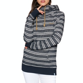 Pullover à Capuche Femme Animal Wrapped Up Hoodie Longline - Sky Captain Blue