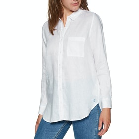 Joules Jeanne Womens Shirt - White Blue