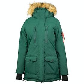 Horze Brooke Parka Ladies Jacket - Bistro Green