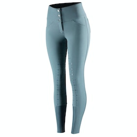 Horze Desiree Silicone Full Seat Ladies Riding Breeches - Marine Blue