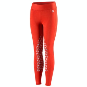 Horze Active Silicone Horse Grip Kids Riding Tights - Aurora Red
