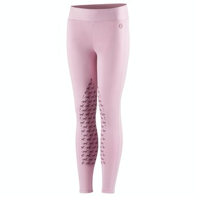 Horze Active Silicone Horse Grip Kids Riding Tights - Lilac