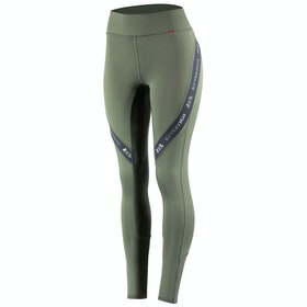 B Vertigo Jenny Silicone Full Seat Damen Riding Tights - Forest Night Melange Grey