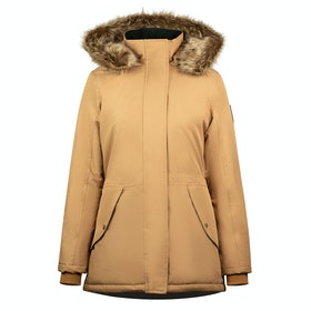 B Vertigo Estella Long Damen Jacke - Tobacco Brown