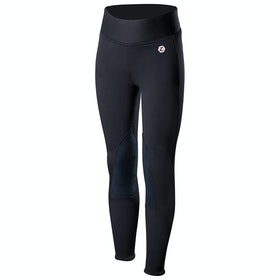Horze Active Knee Patch Winter Kids Riding Tights - Dark Navy