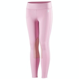 Horze Active Knee Patch Winter Kids Riding Tights - Lilac