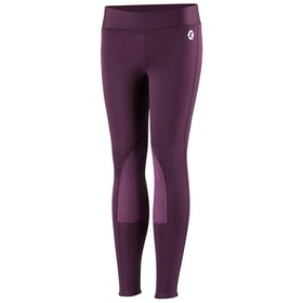 Horze Active Knee Patch Winter Kids Riding Tights - Prune Purple