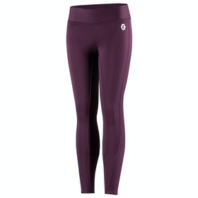 Horze Active Silicone Full Seat Kids Riding Tights - Prune Purple