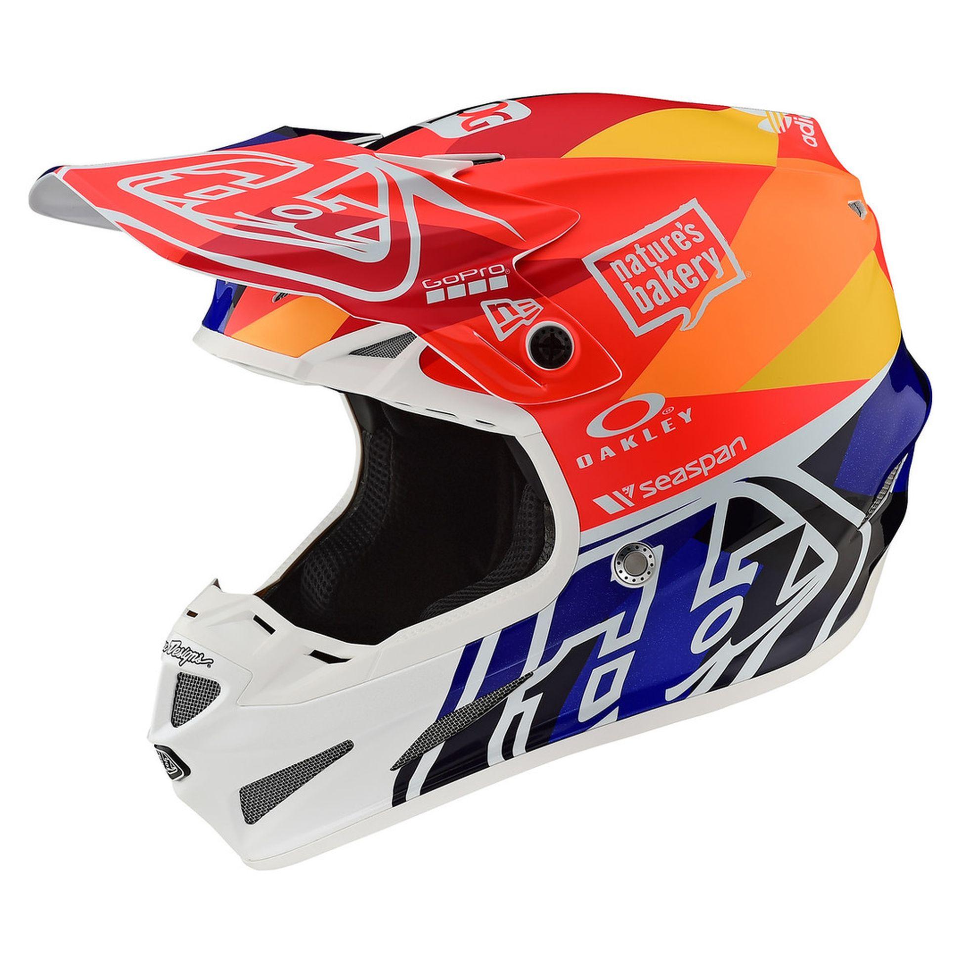 Troy Lee Designs SE4 Polyacrylite Helmet Beta Orange Navy