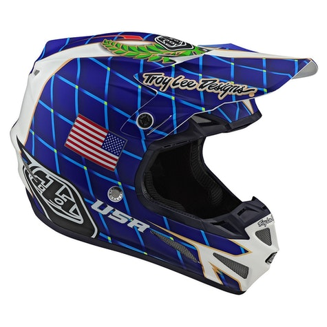 Troy Lee SE4 Composite MIPS Malcolm Smith MX Hjelm