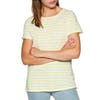 Joules Nessa Damen Kurzarm-T-Shirt - White Lemon Stripe
